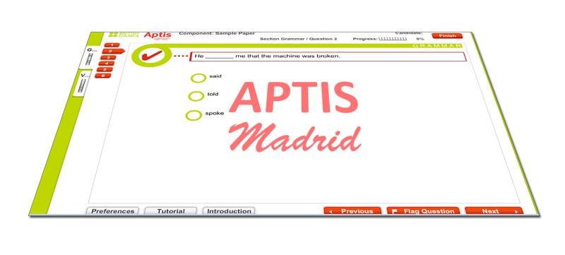 Gramática y Vocabulario del examen Aptis Madrid